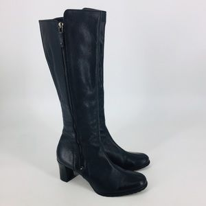 Cole Haan Black Knee High Leather Dress Boots